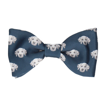Navy Blue Dalmation Face Bow Tie