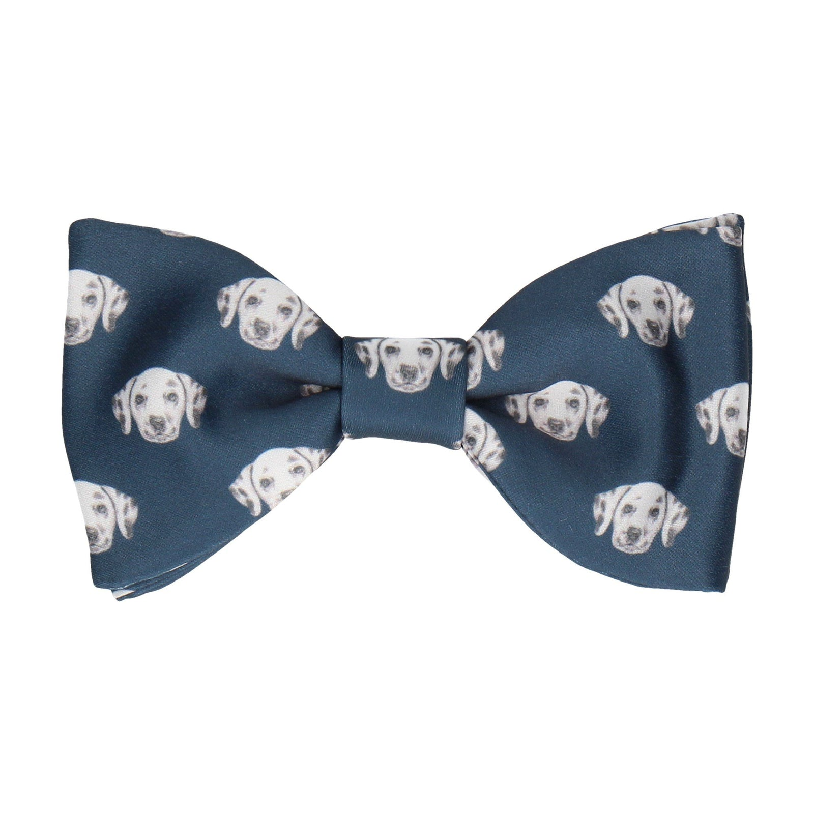 Dalmation Face Navy Blue Bow Tie