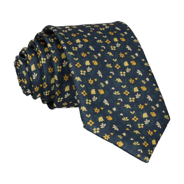 Ditsy Floral Yellow Flowers Tie