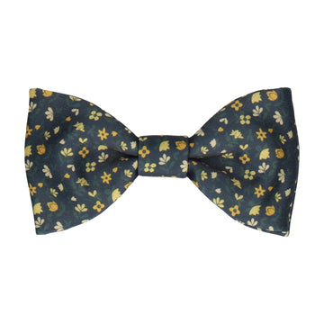 Ditsy Floral Yellow Flowers Bow Tie