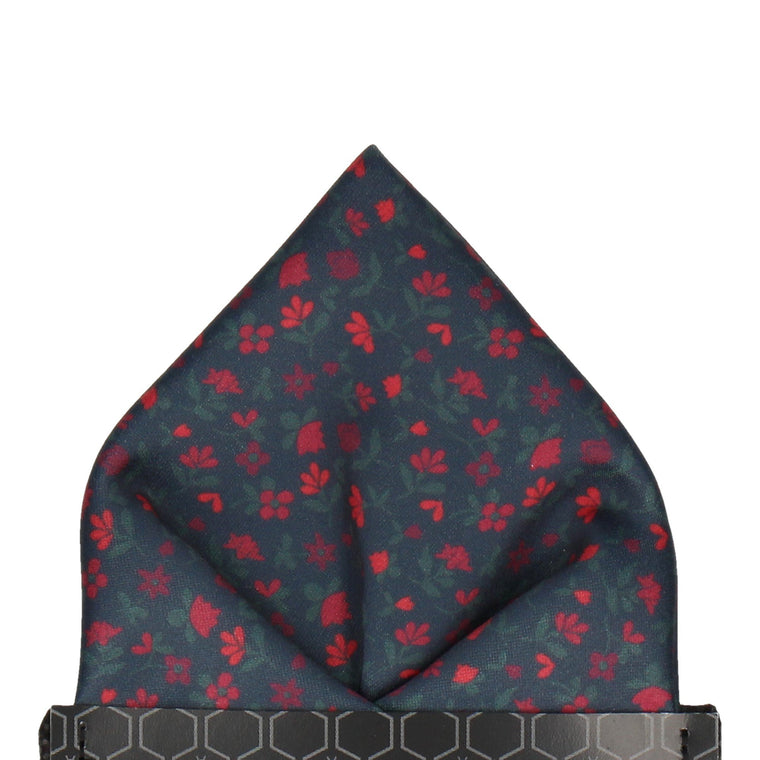 Small Ditsy Floral Red Pocket Square