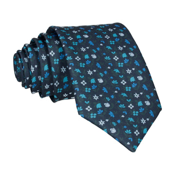 Ditsy Floral Blue Tie