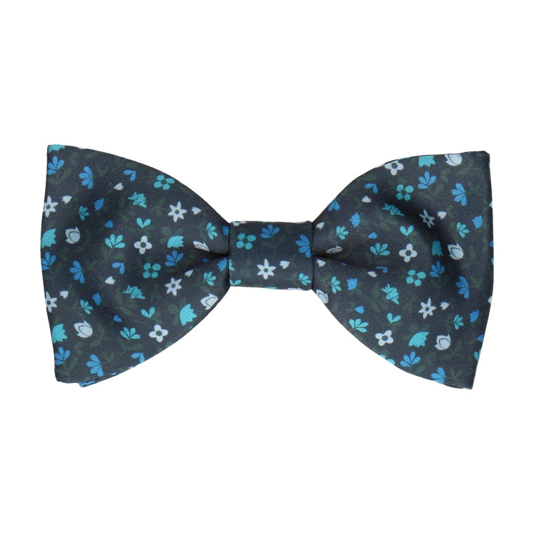 Ditsy Floral Blue Bow Tie
