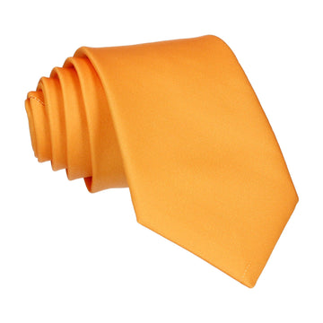 Plain Solid Amber Gold Tie