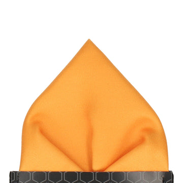 Plain Solid Amber Gold Pocket Square