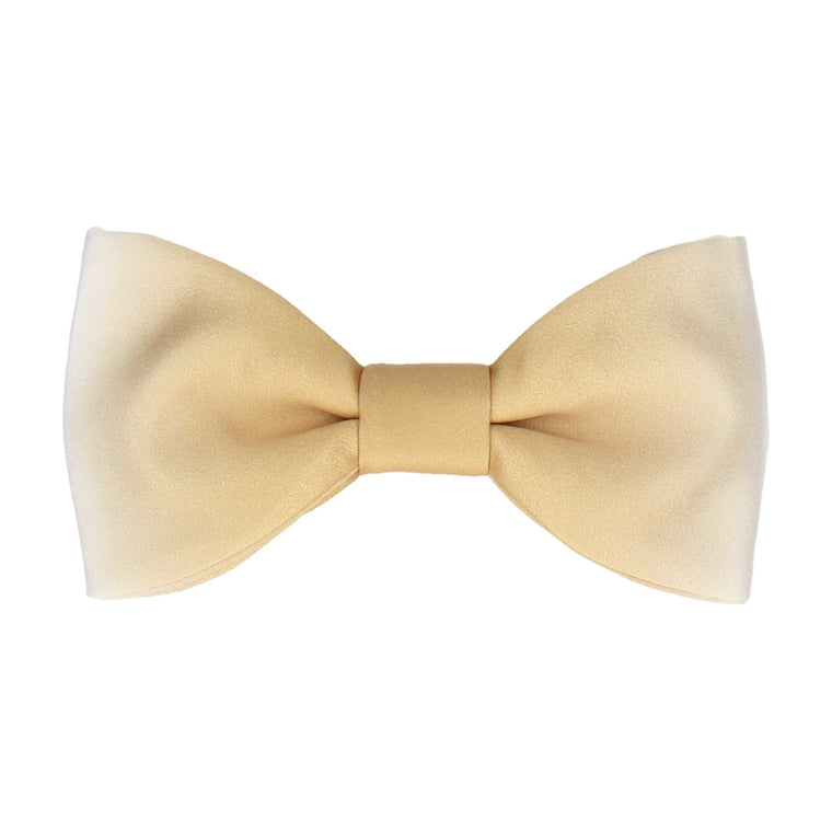 Gold & White Bow Tie