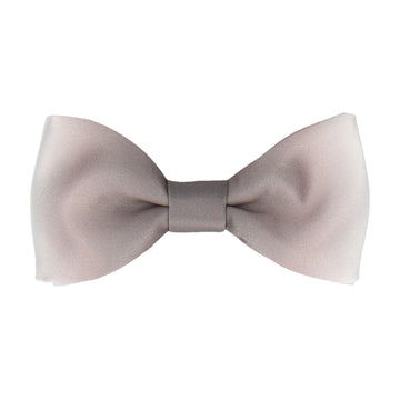 Grey & White Bow Tie
