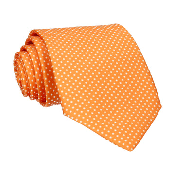 Pin Dots in Orange Tie (Outlet)