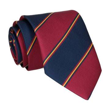 Mulberry & Navy Regimental Stripe Tie