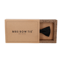 Buckingham Black Paisley Bow Tie
