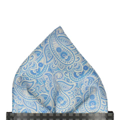 Carisbrooke in Blue & Cream Pocket Square