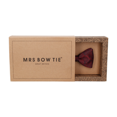 Hatfield Burgundy Dark Red Paisley Bow Tie