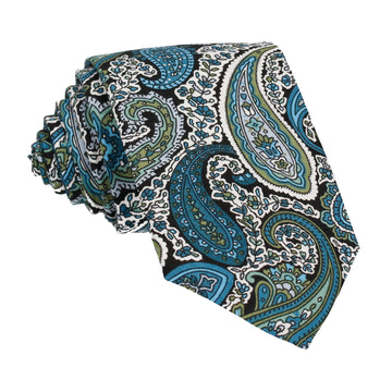 Teal Traditional Paisley Tie