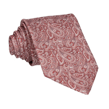 Burgundy Red Paisley Tie