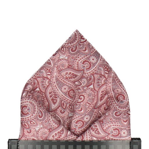 Aberglasney in Burgundy Pocket Square - - Pocket Squares and Handkerchiefs by Mrs Bow Tie