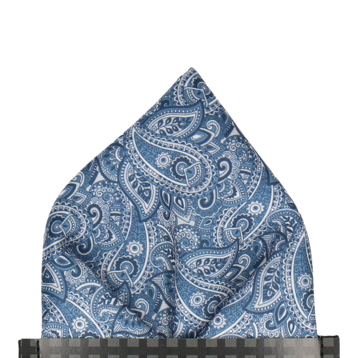 Aberglasney in Blue Pocket Square