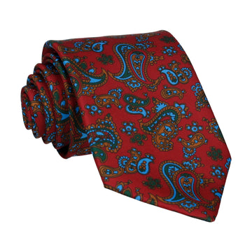 Burgundy Red Stylish Paisley Tie