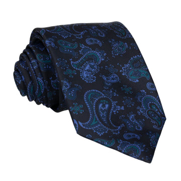 Midnight Blue Stylish Paisley Tie (Outlet)