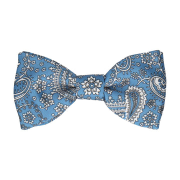 Arya Regal Blue Paisley Bow Tie