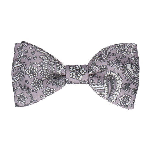 Arya Silver Lavender Paisley Bow Tie