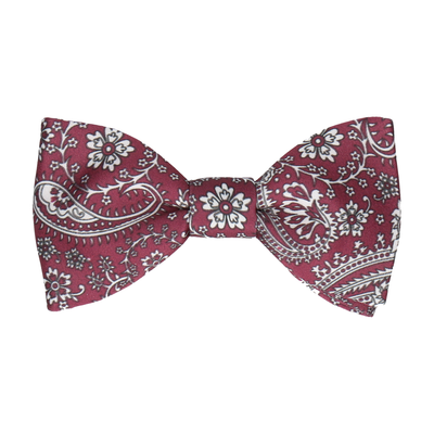 Mulberry Floral Paisley Bow Tie