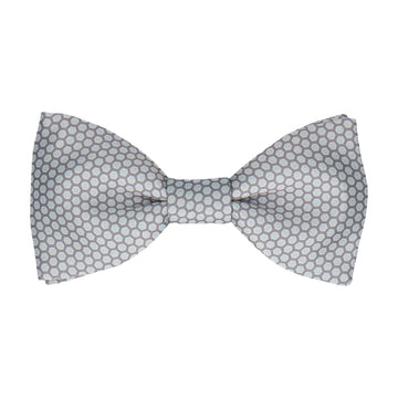 Light Grey Hexagon Pattern Bow Tie
