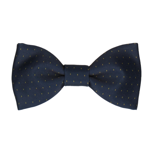 Montgomery Yellow Fleck Navy Blue Bow Tie
