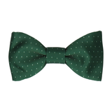 Simple Fleck Dark Green Bow Tie