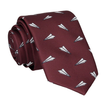 Paper Airplanes Maroon Red Tie