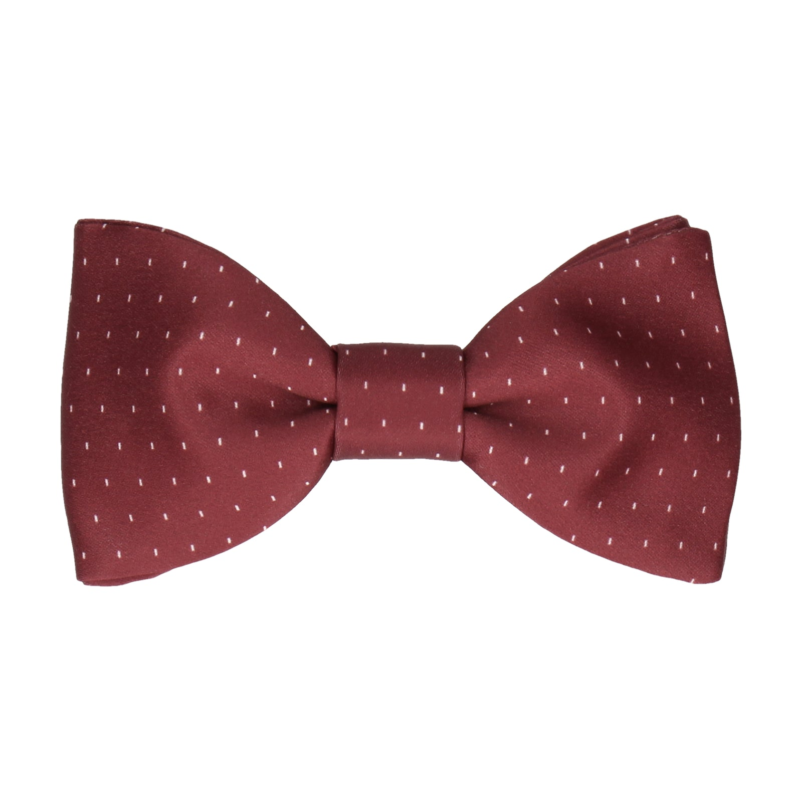 Burgundy Red Simple Fleck Bow Tie