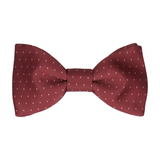 Montgomery Burgundy Dark Red Bow Tie