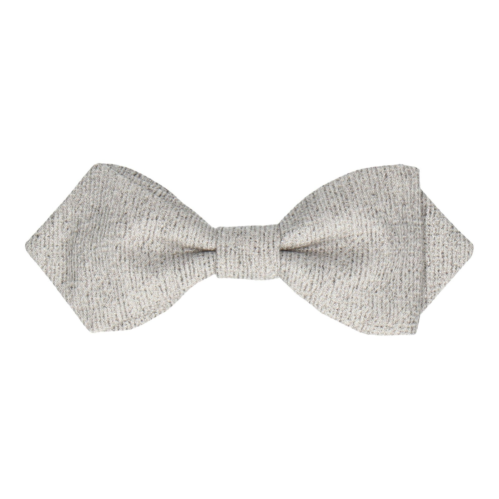 Silver Metallic Thread Bow Tie