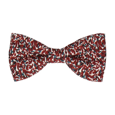 Newlyn Burgundy Dark Red Bow Tie