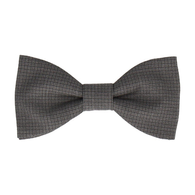 Grey Tiny Check Bow Tie