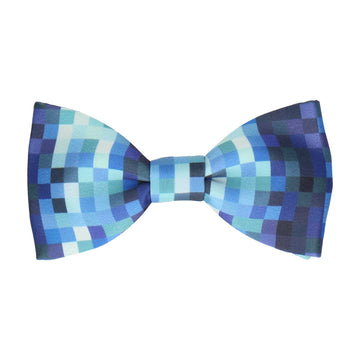 Blue Pixels Gamer Geek Bow Tie