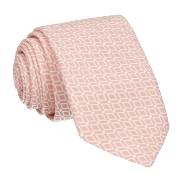 Diamond Quartz Pink Pattern Cotton Tie