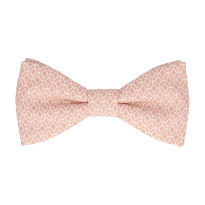 Diamond Quartz Pink Pattern Cotton Bow Tie