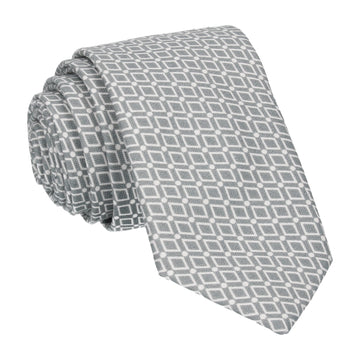 Diamond Grey Pattern Cotton Tie