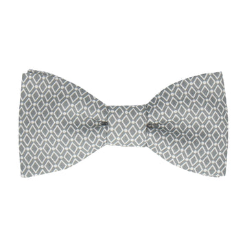 Diamond Grey Pattern Cotton Bow Tie