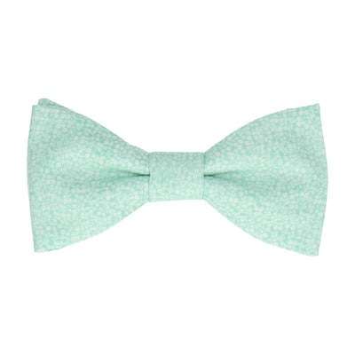 Seafoam Green Tiny Petal Cotton Bow Tie