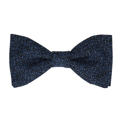 Navy Blue Tiny Petal Cotton Bow Tie