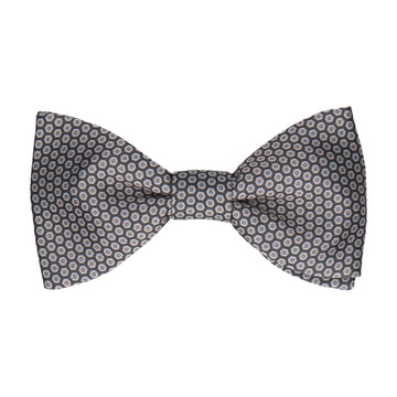 Dark Grey Hexagon Pattern Bow Tie