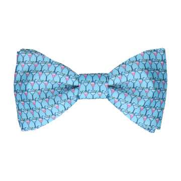 Blue Cocktails Bow Tie