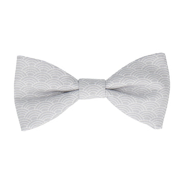 Grey Art Deco Fans Cotton Bow Tie
