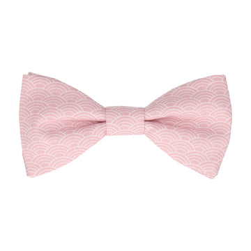 Pink Art Deco Fans Cotton Bow Tie