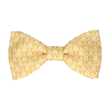 Mustard Gold Lotus Fans Bow Tie
