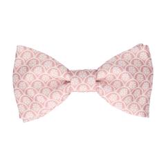Fincham Pink Rose Bow Tie