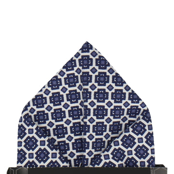 Berkane in Navy Blue Pocket Square