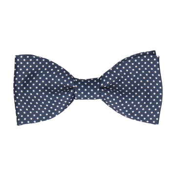 Navy Blue Pin Dots Bow Tie