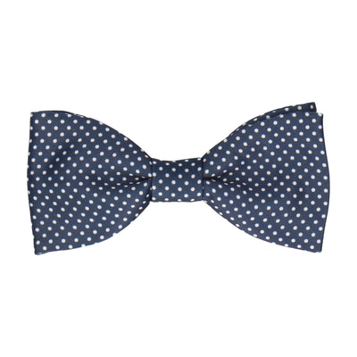Pin Dots Navy Blue Bow Tie